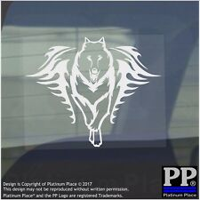 Wolf Flame-Vinyl Sticker-Car Window Graphic Decal Sign Animal,Hunt,Howl,Hound