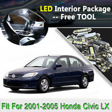 8X Xenon White LED Interior Light Package For 2001-2005 Honda Civic LX EX Si J2