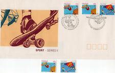Australia Fdc 1990 Sport Series Ii 43c & $1.20 + Stampsmint)