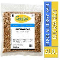 Buckwheat Grain, 2 LBS Food Allergy Safe, Vegan & Non GMO by Gerbs