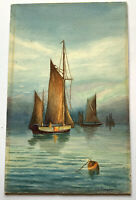 Original 1920s Watercolour Norfolk Wherries A Rumsby 11 x 7 inches
