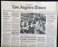 L.A. Lakers Beat Boston Celtics Bury Garden Ghost NBA 1985 L.A. Newspapers (3)