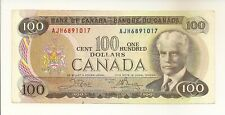 CANADA 1975 $100 BC-52b CROW-BOUEY 3 LETTERS AJH6891017 VF/EF NOTE NORESERVE!!