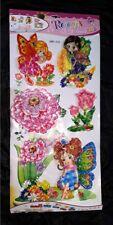 3D WANDTATTOO WANDBILD Kinderzimmer Fee Elfe Blume Schmetterling WAND TATTOO