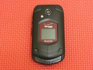 Kyocera DuraXV E4520PTT Verizon Wireless 250MB Black/Red Rugged Flip Cell Phone