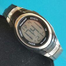 Armitron Pro Sport Digital Chronograph Black Silver Unisex Wristwatch F268