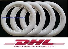 Old Firestone tire style 14''x3'' White Walls Tire Insert Trim 4 pcs. Portawalls