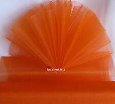 47cm X 10m Light Blue Sheer Organza Fabric Wedding Party Table Runner Craft Orange