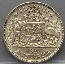 Australie  Australia  1 Florin 2 Shilling 1951 - George VI Silver. KM# 48 nice!