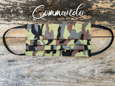 Reusable Fabric Handmade Face Mask with Pocket for Filter - Commando Design