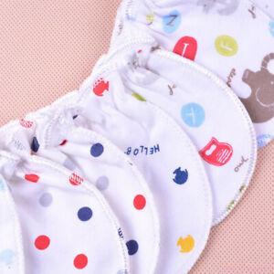 3Pairs Soft Newborn Baby Handguard Non-Scratch Cartoon Cotton Mittens Gloves AU