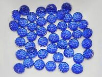 500 Royal Blue Round Flatback Resin Dotted Rhinestone Gem beads 6mm