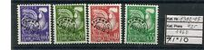 Frankreich Vorausentwertungen 1960 Préoblitérés Michel 1302-05 postfrisch
