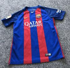 Nike Barcelona Barca Home Football Shirt Top 2016/2017 Kids Size Age 12-13 Years