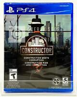 Constructor Construction Meets Corruption - PS4 - Brand New | Factory Sealed