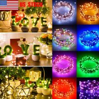 Waterproof 2/5/10M Copper Wire AA Battery Operated LED Fairy String Light Xmas