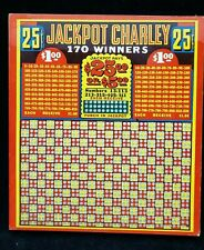 Vintage 40s Punch Board Club Gambling Casino Game New Unpunched Jackpot Charley