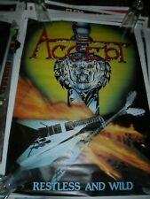 Accept Restless & and Wild In-store Promo Vintage Poster 80s (1982) No T Shirt