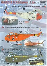 Print Scale Decals 1/72 Sikorsky H19 & S-55 Chickasaw Part 2 U.S. Service