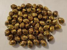 50 Bronze Excalibur Tribal Teardrop Plastic Macrame Craft Jewelry Beads 18mm