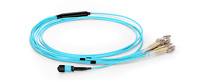 3m [10ft] MPO Female to 4 LC Duplex 8 Fibers OM3 50/125 Multimode Cable-2438