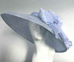 Exclusive Blue Designer Millinery by Hat Couture Wedding Bridal AscotHat