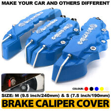ABS 3D Blue Style 4 Pcs Front & Rear Universal Disc Brake Caliper Cover CY03