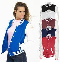 Ladies Varsity American Baseball Football Jacket Letterman Style College Unisex