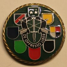 Commander US Special Forces Command Airborne Green Beret Army Challenge Coin