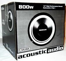 Acoustic Audio 10 Inch Woofer Pair (NEW)