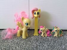 My Little Pony Fluttershy Lot of 4 Figures and Poster