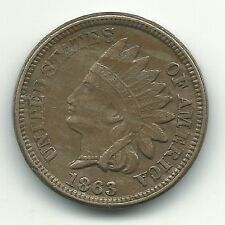 EXTRA FINE COPPER NICKEL 1863 C/N INDIAN HEAD CENT-WITH 3 DIAMONDS - MAR224