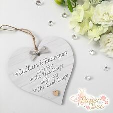 Wedding Engagement Gift Personalised Plaque Keepsake Yes Day Best Day Quote Wood
