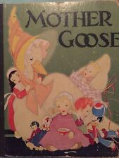 1933 Mother Goose - Her Best Known Rhymes Illustrated By Fern Bisel Peat   Rare