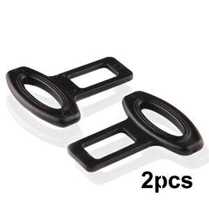 2pcs Auto Car Seat Belt Safe Buckle Plug Clasp Clip Alarm Stopper Accessories