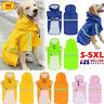 Waterproof Pet Dog Coat Jacket Vest Raincoat Clothes Dog Rain Coat Reflective AU