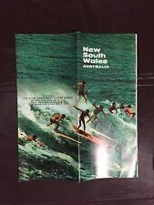 1968 New South Wales Australia Tourist Map - Very Retro
