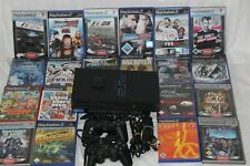 "Playstation 2-Sony Ps2 Schwarz ""Fat""+Original Controller+Alle Kabel+7 Spiele"