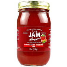 The Jam Shoppe All Natural Strawberry Rhubarb Jam 19 Oz. Jar Real Fruit Recipe