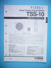 Service Manual Manual for Yamaha Tss-10, Original