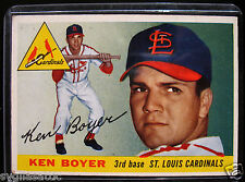 1955 Topps KEN BOYER #125 Baseball Card-VG/EX Condition-ST. LOUIS CARDINALS