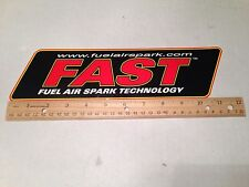 FAST Decal,FASTLogo Sticker, Sticker Decoration, Fuel Air SPark Technology