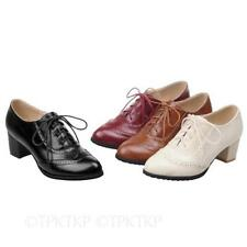 Patternless Brogues Women's Synthetic Leather Flats