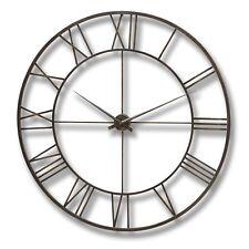 Extra Large Skeleton Wall Clock - Industrial Style Vintage Metal Oversized 120cm