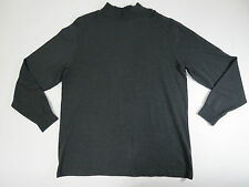 Roundtree & Yorke Mens Charcoal Heather Long Sleeve Mock Neck Shirt Big SZ 2X