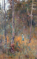 Lost by Frederick McCubbin A1 High Quality Canvas Print