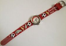RAVEL CHILDS RED FOOBALL MAD WATCH WITH 3D STRAP