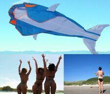 "LET""S GO FLY A KITE!  3D BIG WHALE FRAMELESS PARAFOIL KITE BEACH PARK FUN"