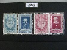 timbres belges : littérateurs 1952 COB n° 898 et 899 **