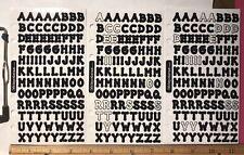 """/""""Negro alfabeto/"""" calcomanías de BAZZILL Basics De Papel"""